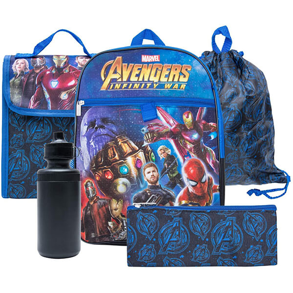 Thanos Spiderman Avengers Backpack Combo Set
