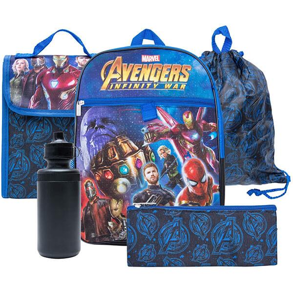 Thanos Spiderman Avengers Backpack Combo Set