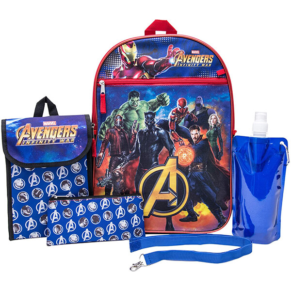 Black Panther Avengers Backpack and Lunchbox