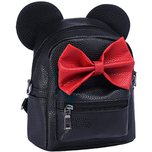 Bowknot Mouse Ear Disney Leather Mini Backpack