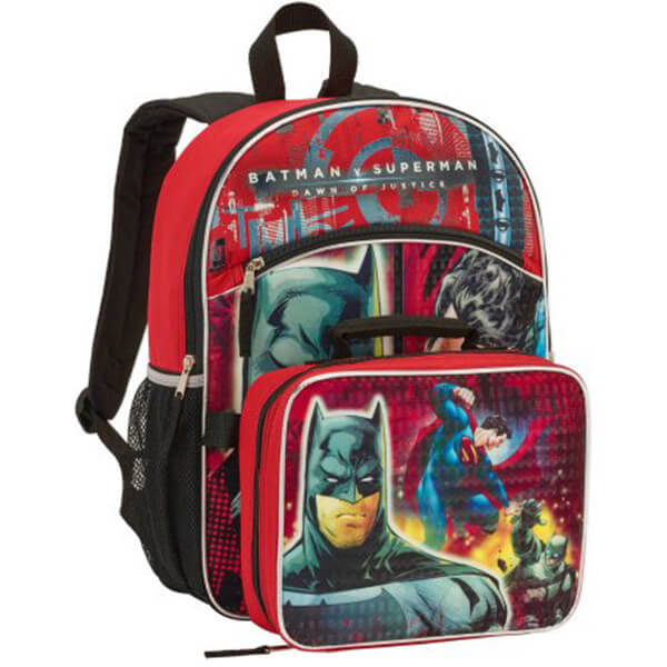 DC Comics Batman Vs Superman Backpack with Lunch Box