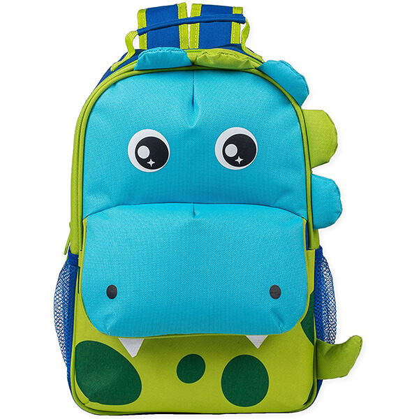 Green Spotted Dimensional Animal Shape Dinosaur Backpack