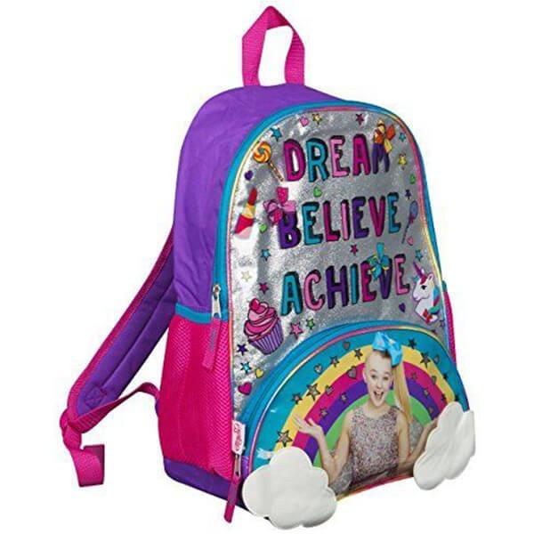 Jojo Siwa Blue-Bow Rainbow Backpack