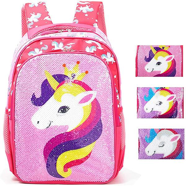 Magic Reversible Sequin Unicorn Backpack for School