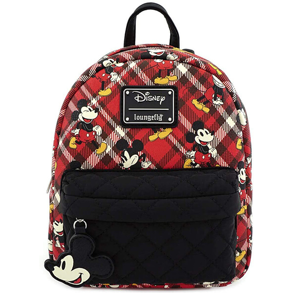 Plaid Mickey Mouse Disneyland Mini Backpack