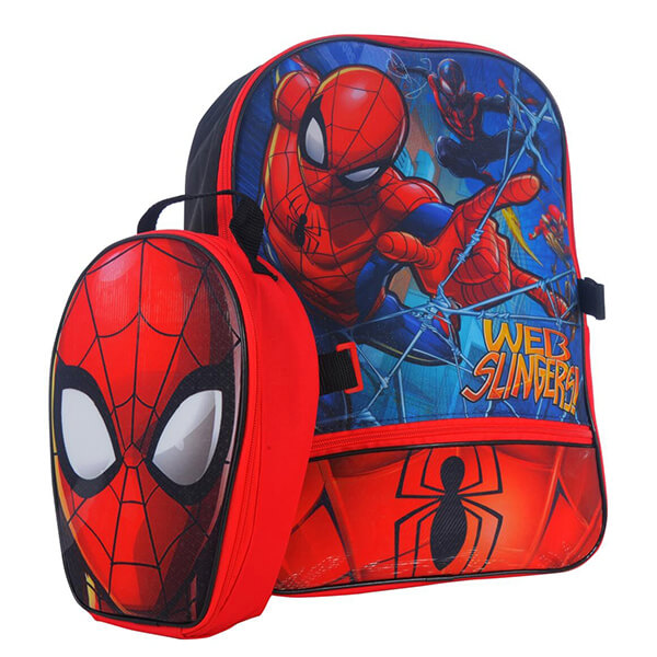 Web Slingers Spiderman Comes Backpack Lunch Bag