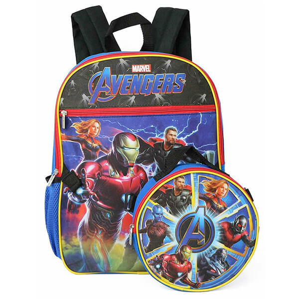 Avengers Super Characters Backpack with Lunch Box
