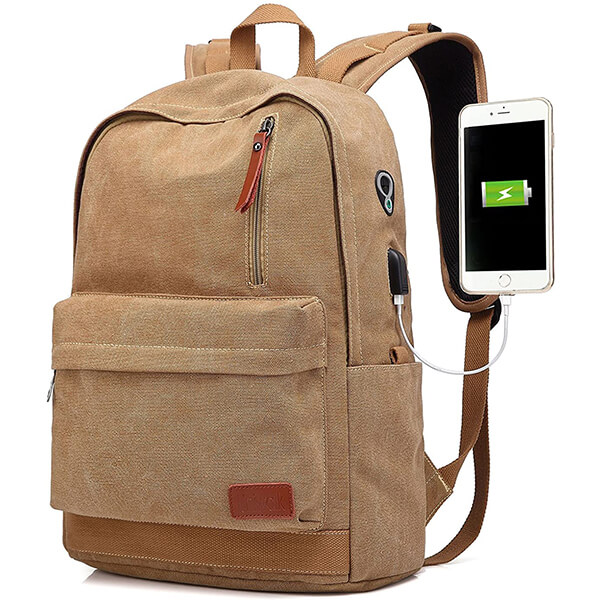 Men Perfect Student Brown Backpack