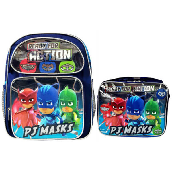 READY FOR ACTION PJ MASKS Backpack with Lunchbox