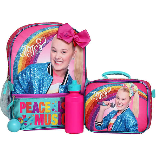 Jojo Siwa Backpack with 4PC Lunch Set