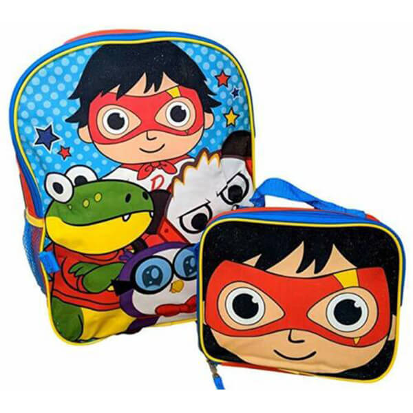 Superhero Ryan's World Backpack with Lunch Box