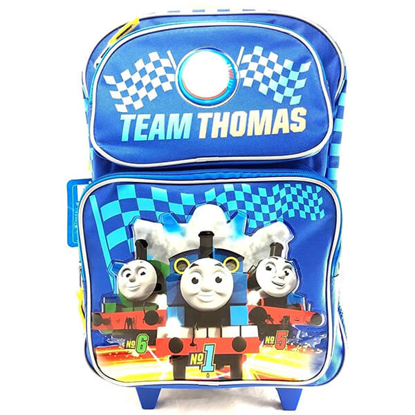 Team Thomas Kids Rolling Backpack and Lunchbox