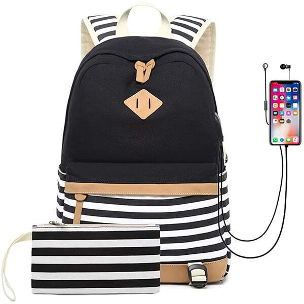 White Bee Waterproof College Backpack