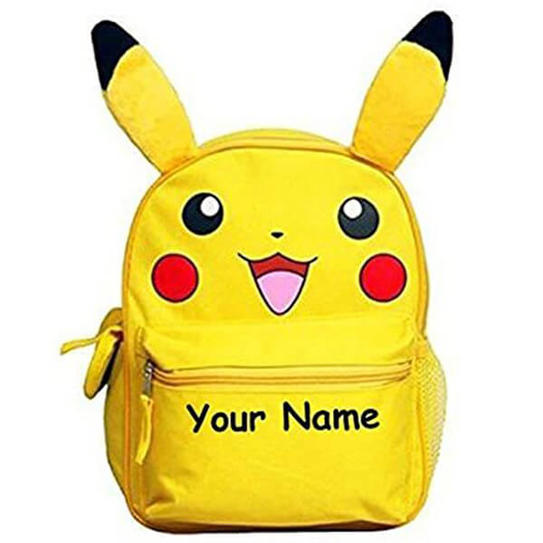 Personalized Pikachu Backpack