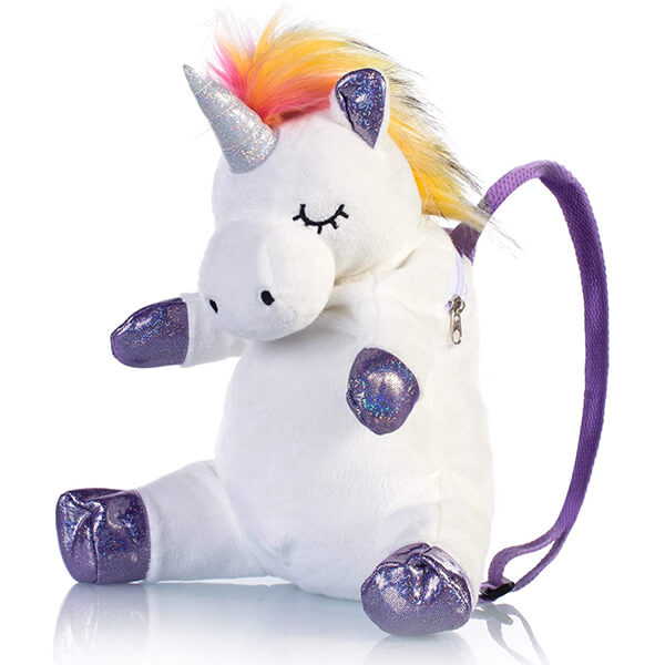 Plush 3D Unicorn Mini Backpack