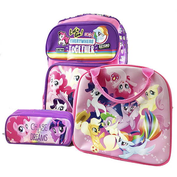 All Set MLP backpack and lunchbox