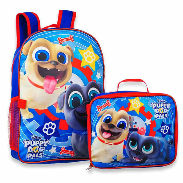 Disney Puppy Dog Pal Backpack with Lunch Box