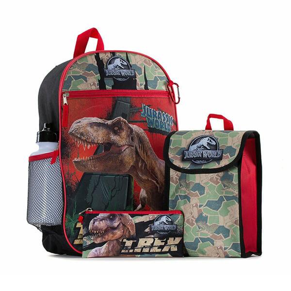 Jurassic World T-Rex Dinosaur Backpack Set