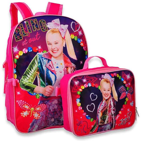 Multi-pink Jojo Siwa Backpack and Lunchbox