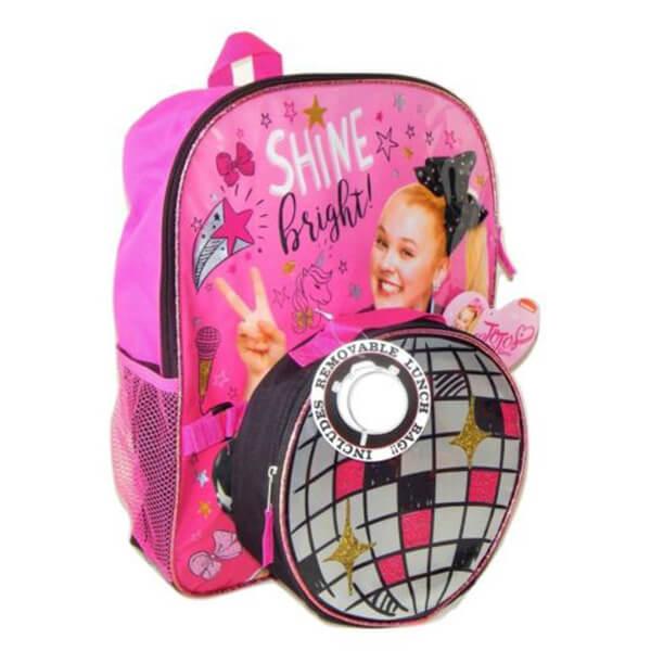 SHINE Bright Jojo Siwa Backpack and Lunchbox