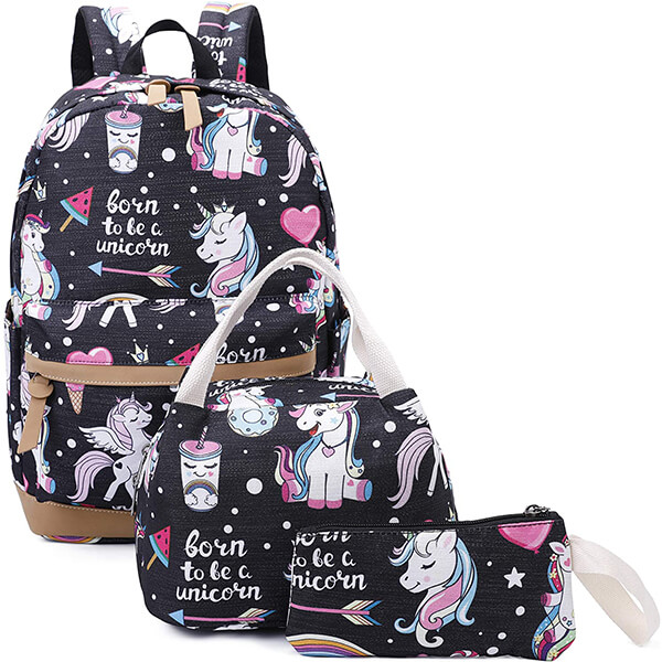Born to Be a Unicorn Characters Backpack