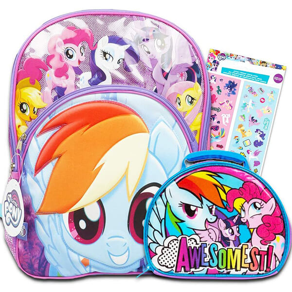 Deluxe MLP Backpack with Lunch Box and Stickers
