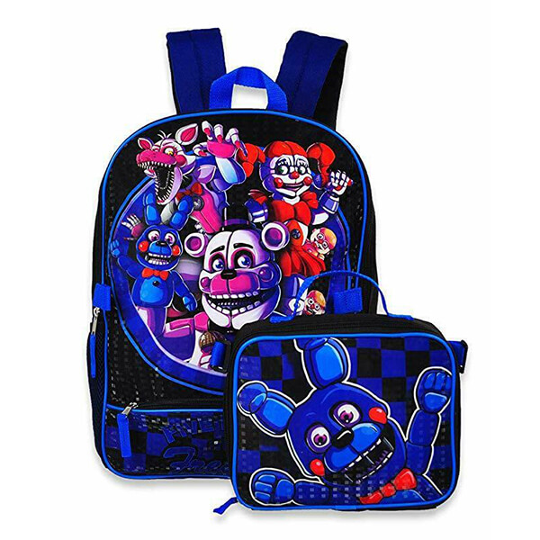 Five Nights at Freddy's Backpack with Insulated Lunch Box