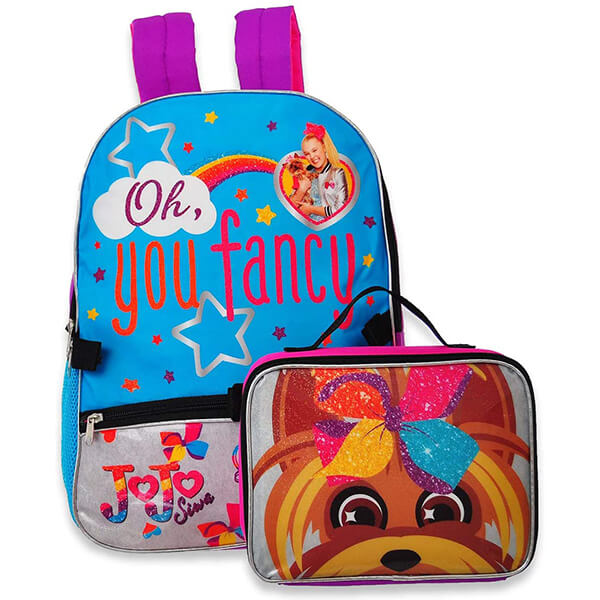 Fancy Jojo Siwa Backpack and BowBow Lunch Box