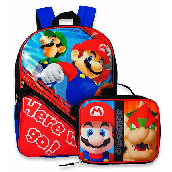 Hero Mario Go! Backpack with Lunch Box