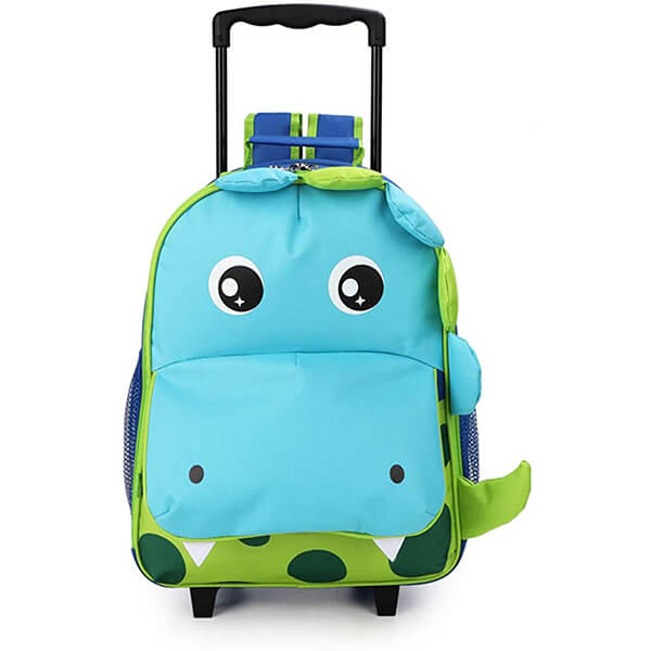 Dinosaur Medium Toddler Rolling Backpack with wheels