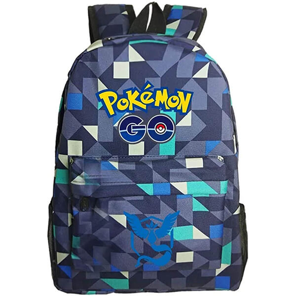 Checkered Print Pokemon Backpack