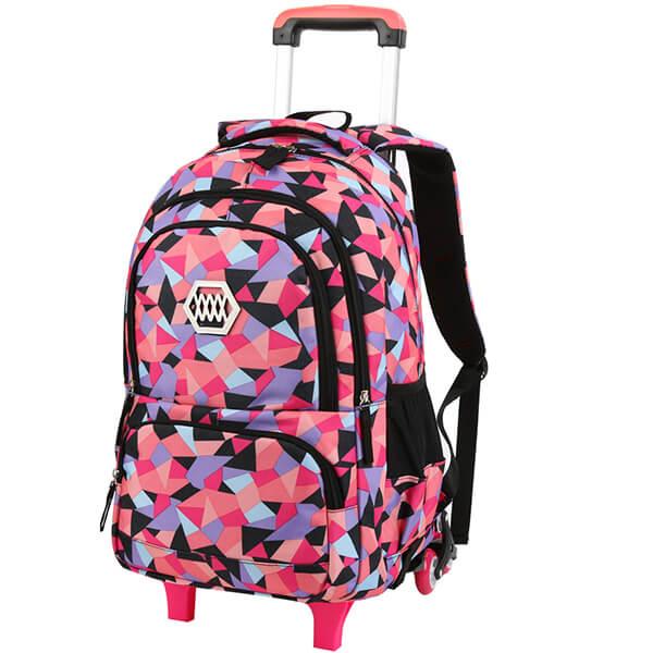 Little Girl Rolling Backpack for Kids