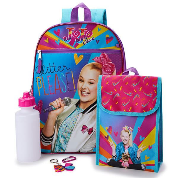 Glitter Jojo Siwa Backpack and Lunch Gadget