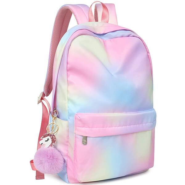 Rainbow Waterproof College Backpack