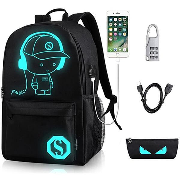 Luminous Anime Waterproof Backpack