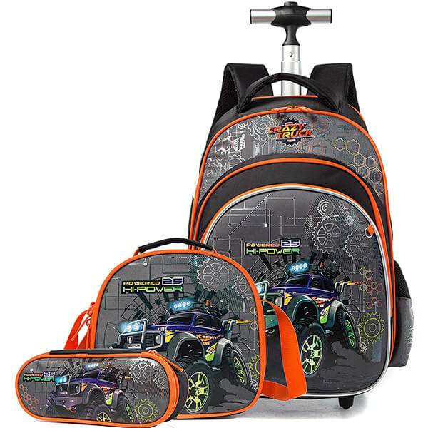 Crazy Truck Rolling Backpack Lunch Bag