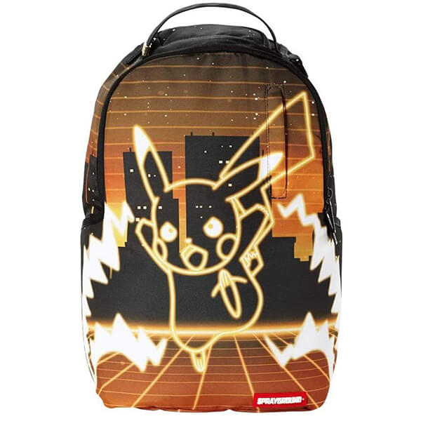 Neon Shark Pikachu Backpack