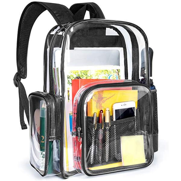 Transparent Waterproof School Backpack