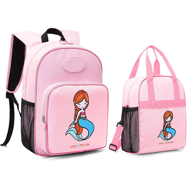 Cute Mermaid Backpack and Lunchbox Set