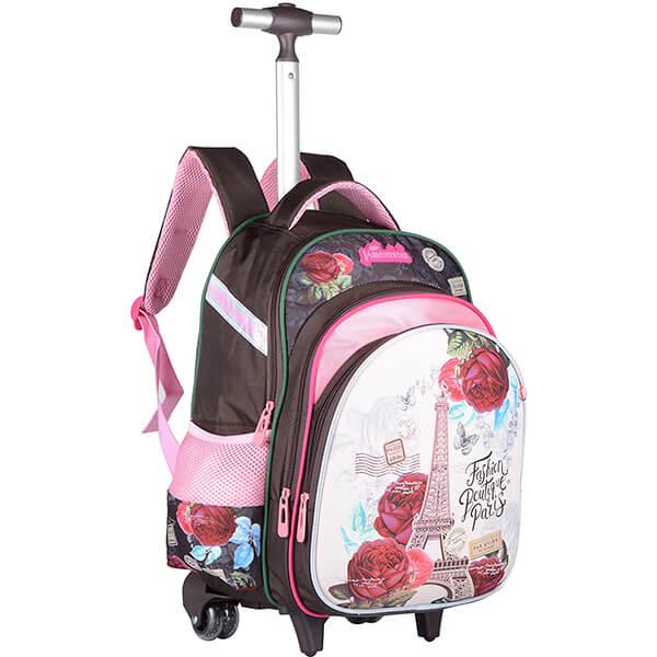Paris Rose Kids Rolling Backpack
