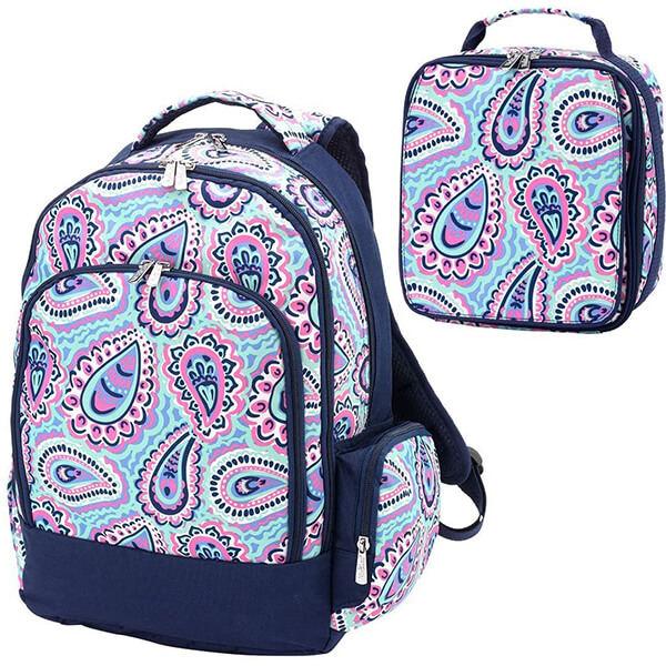 Sophie Paisley Backpack Lunch Bag