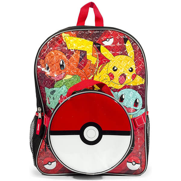 Team Pikachu Backpack and Pokeball Lunchbox
