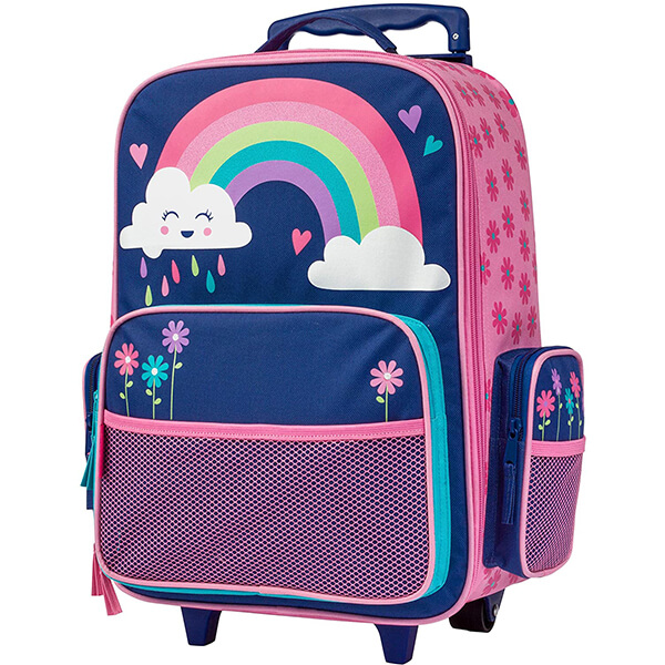 Rainbow Cloud Kids Rolling Backpack