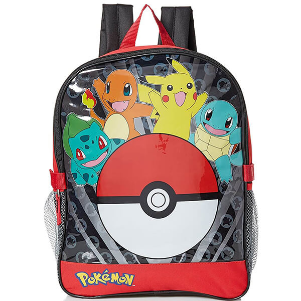 Shadow Pikachu Backpack with Lunchbox