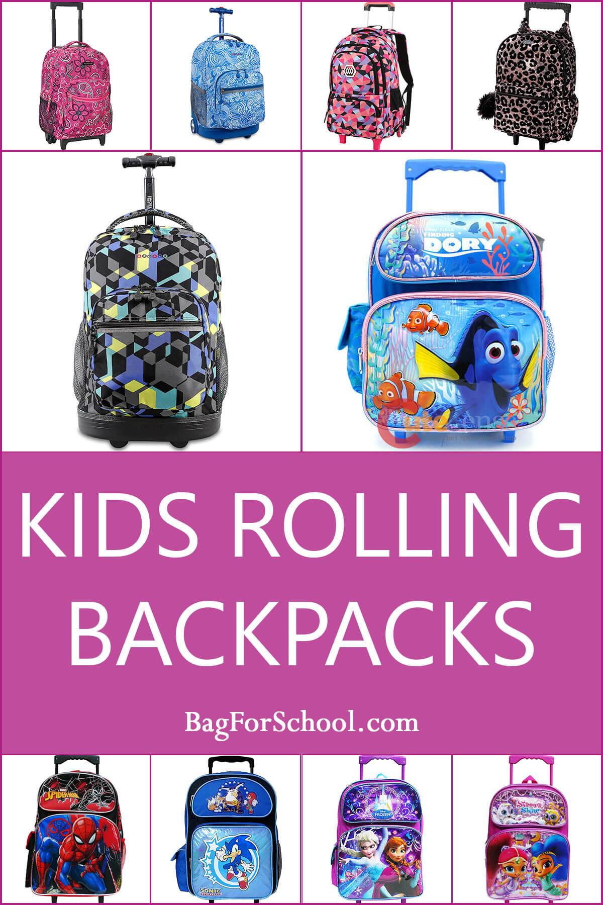 Kids Rolling Backpacks