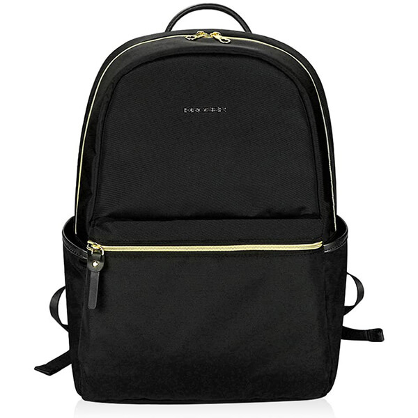 Causal Water-Repellent Nylon Backpack for Laptop with USB Port