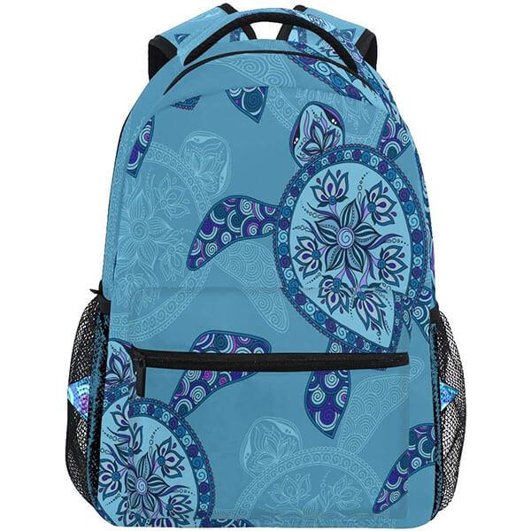 Floral Sea Turtle Backpack