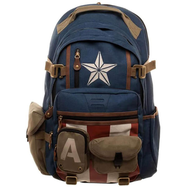 Herringbone Captain America Backpack