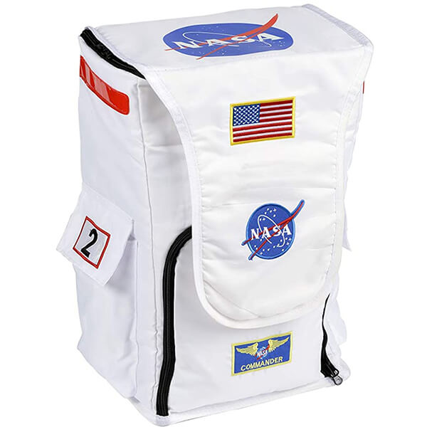 Jr. Astronaut White Polyester NASA Backpack Package