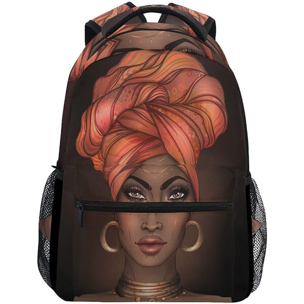 Lovely Girl School College Students African American Backpack